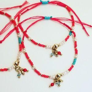Adjustable Gold Filled Good luck red bracelet